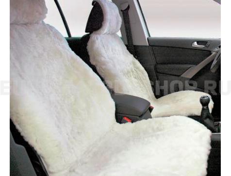 Меховая накидка из натуральной овчины Euromat|Tex (цельная стриженная ) белая № EUSH-002004