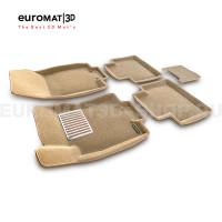 Текстильные 3D коврики Euromat3D Lux в салон для Nissan X-Trail (T32) (2015-) № EM3D-003724T Бежевые