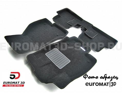 Текстильные 3D коврики Euromat3D Business в салон для Audi A4 (2004-2007) № EMC3D-001110