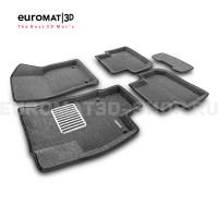 Текстильные 3D коврики Euromat3D Lux в салон для Volkswagen Tiguan (2017-) (Укороченная) № EM3D-005415.1G Серые